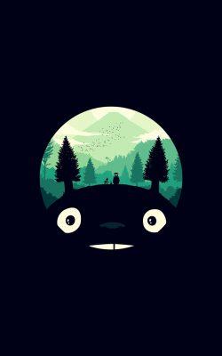 ao38-totoro-art-illust-simple-cute-dark