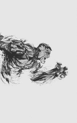 aj81-hulk-illust-anger-white-minimal-hero