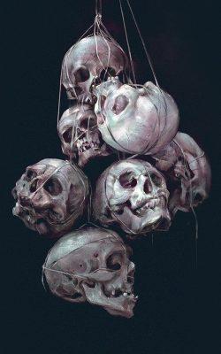 av25-paint-skull-green-dark-yanjun-cheng-illustration-art