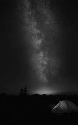 my86-camping-night-star-galaxy-milky-sky-dark-space-bw-dark