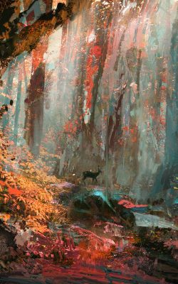 ax52-rain-deer-forest-illustration-art-wadim-kashin