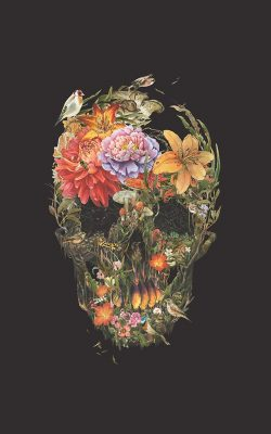 bf04-skull-flower-dark-painting-art