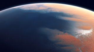 Artist's impression of Mars four billion years ago