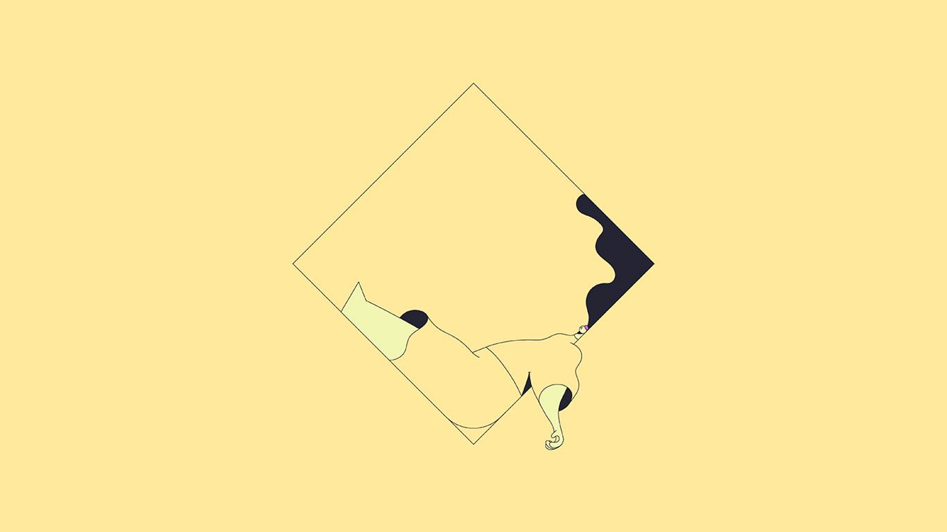papers.co bb09 minimal drawing yellow illustration art 29 wallpaper