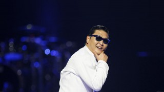 File photo of South Korean rapper-singer Psy performing during the 2012 iHeart Radio Music Festival at the MGM Grand Garden Arena in Las Vegas
