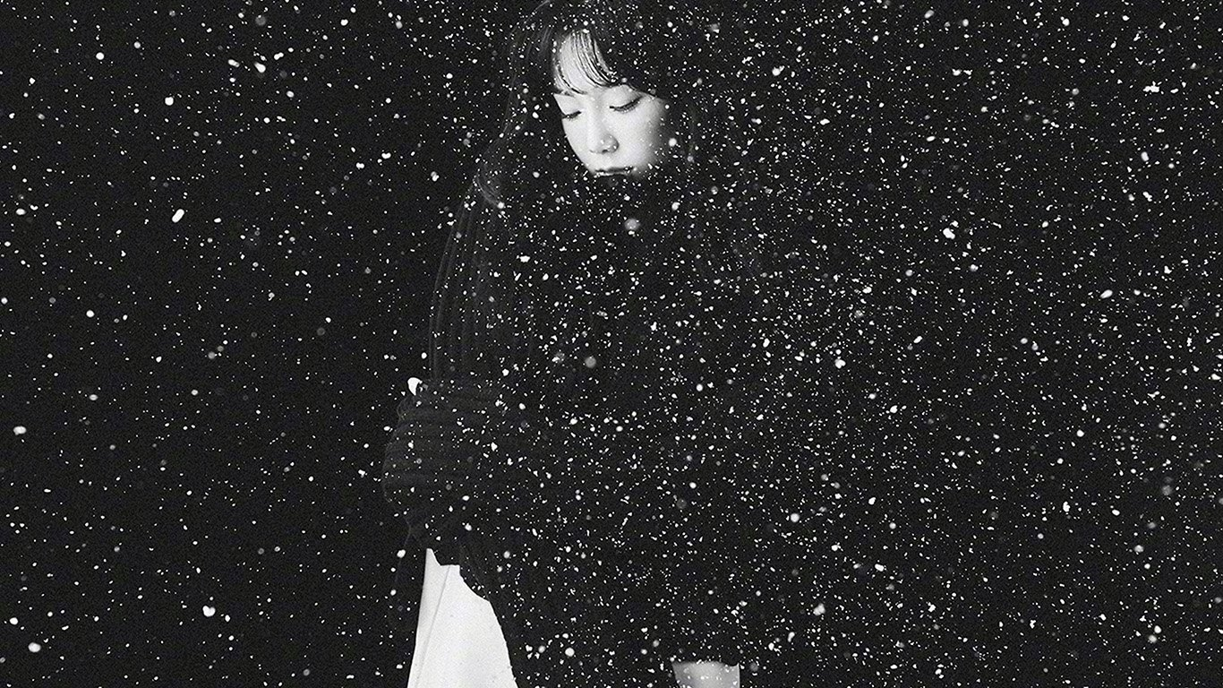 Wallpaper For Desktop Laptop Ho98 Snow Girl Snsd Taeyeon Black Bw Kpop