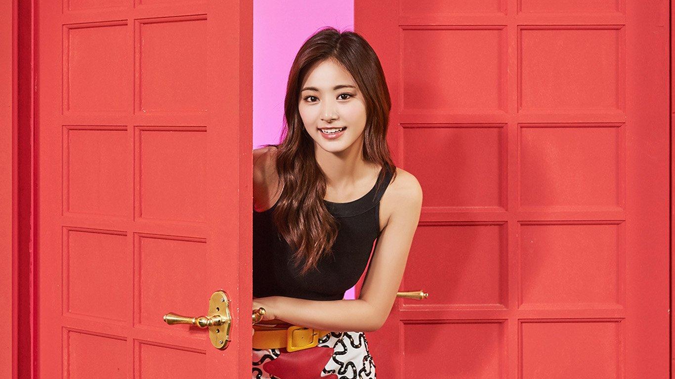 Wallpaper For Desktop Laptop Hq27 Twice Girl Tzuyu Red Music Kpop Aisan