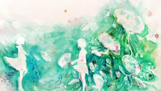 ai07-watercolor-green-girl-nature-art-illust