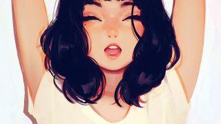 ax05-girl-smile-ilya-kuvshinov-illustration-art-yawn