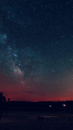nk53-night-sky-star-starry-romantic-red