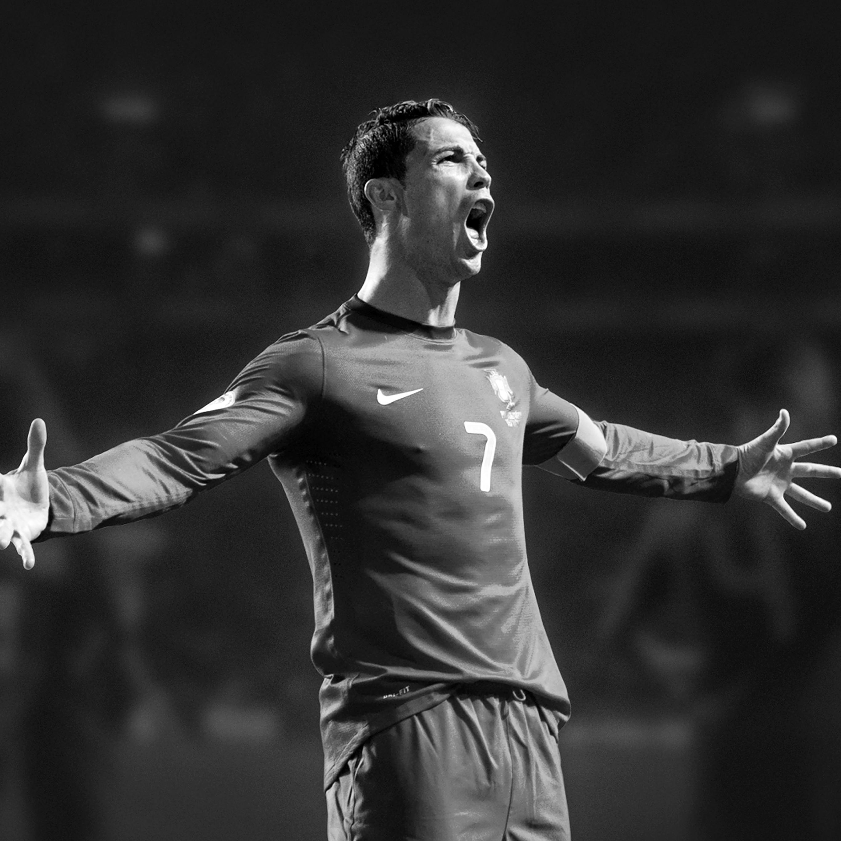 Aa11 Christiano Ronaldo Roar Dark Face Sports Art Papers Co