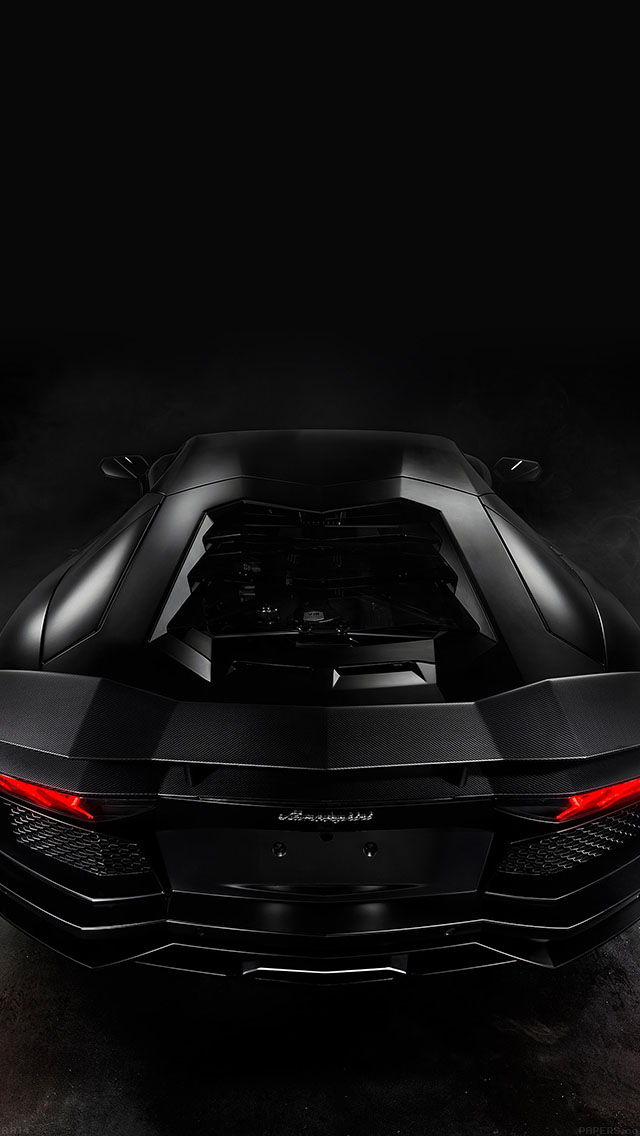 I Love Papers Aa14 Back Of Lamorghini Aventador Car Dark Art