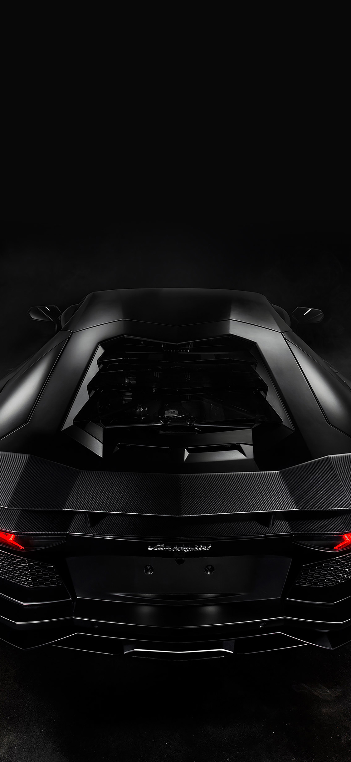 Iphonepapers Aa14 Back Of Lamorghini Aventador Car Dark Art
