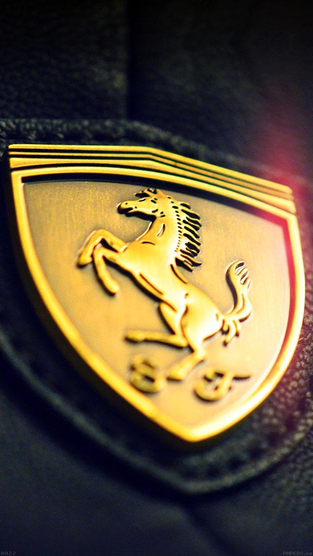 freeios8.com-iphone-4-5-6-ipad-ios8-aa22-gold-ferrari-logo-art
