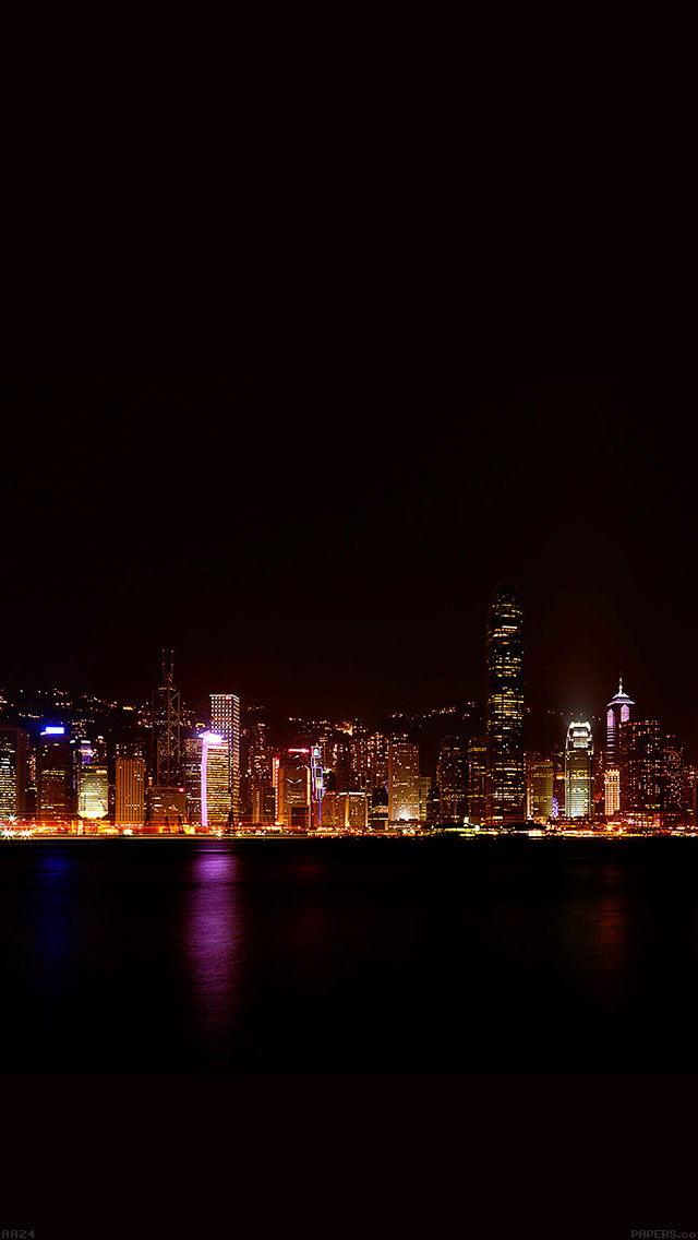 freeios8.com-iphone-4-5-6-ipad-ios8-aa24-hongkong-skyline-city-dark-art