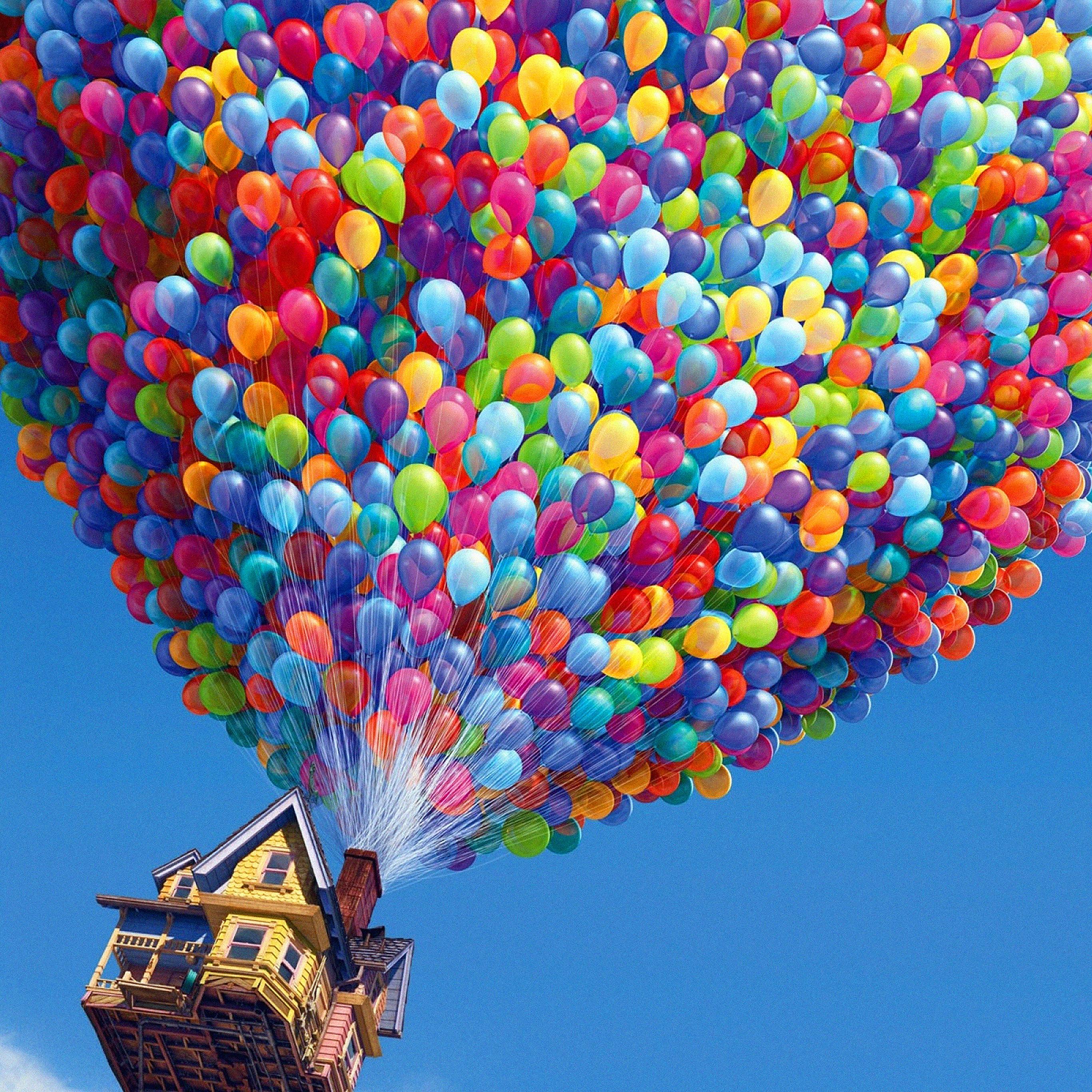 Aa28 Up Balloons Disney Illust Art