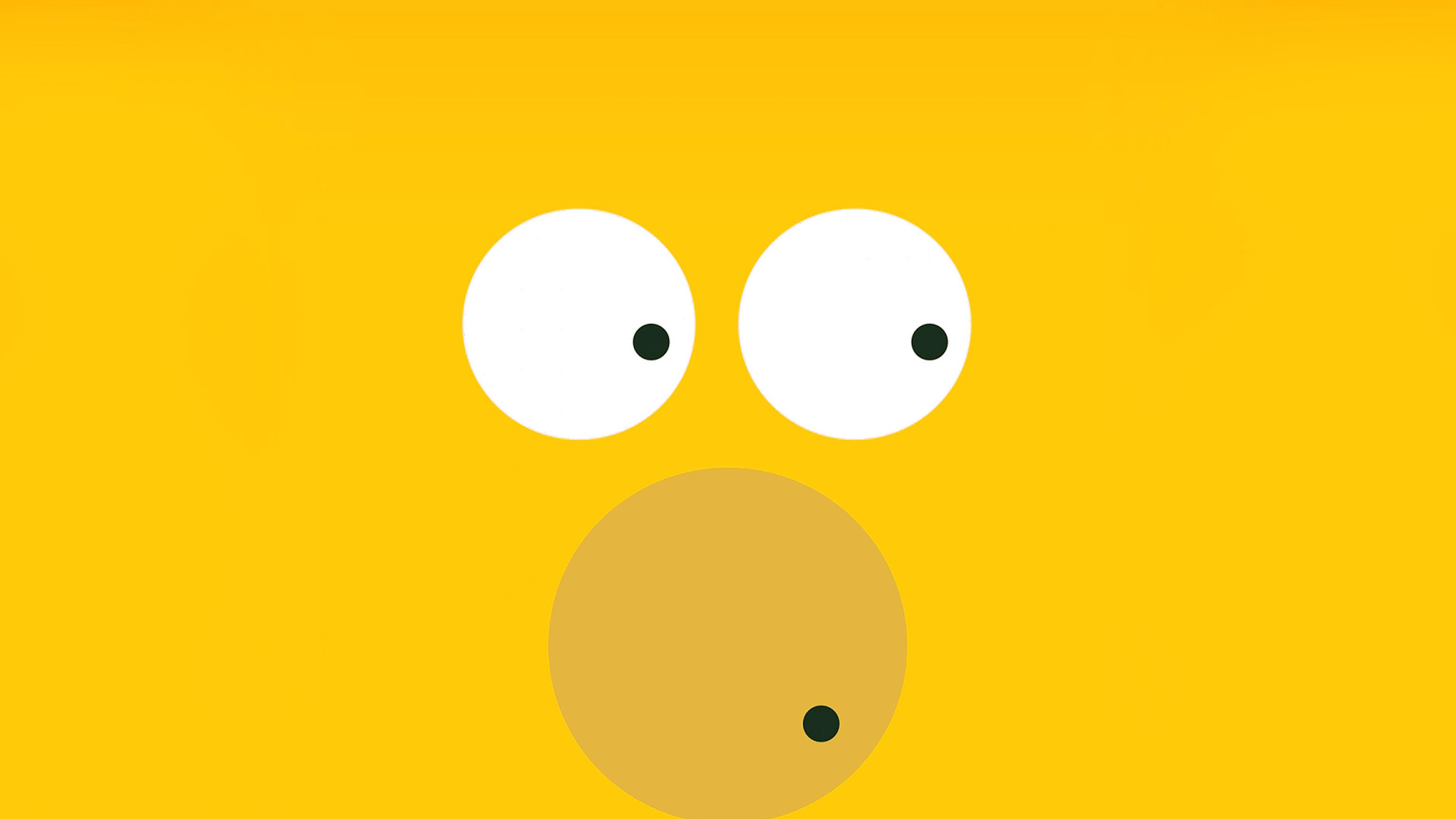 Aa30 6 Circles Homer Simpson Illust Minimal Art Papersco