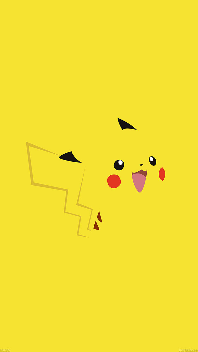 freeios8.com-iphone-4-5-6-ipad-ios8-aa35-pika-pikachu-illust-minimal-art