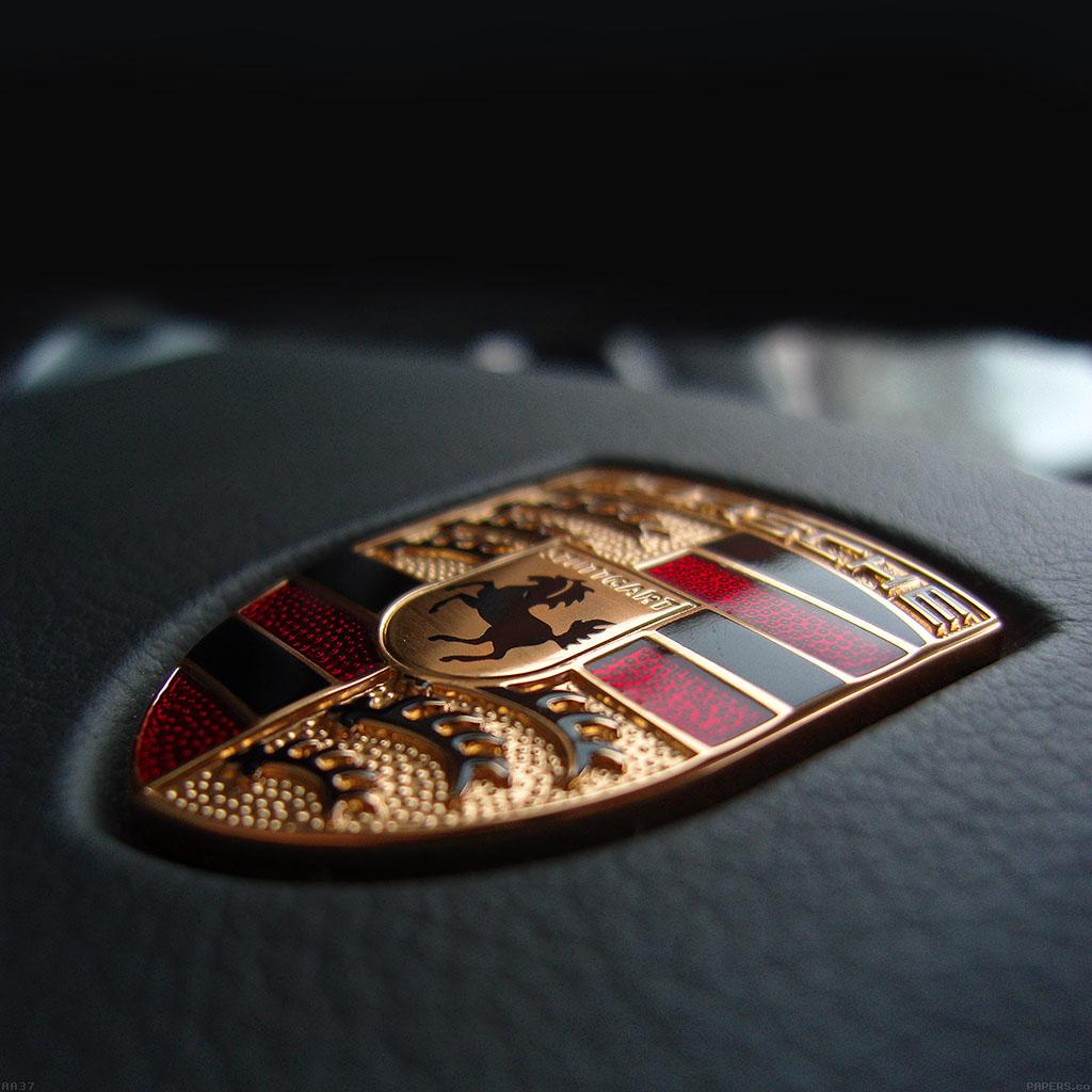 Porsche Logo Wallpaper: Aa37-porsche-mark-car-art