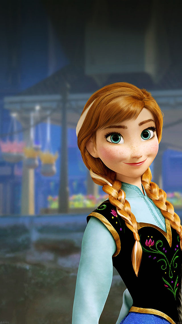 freeios8.com-iphone-4-5-6-ipad-ios8-aa46-anna-frozen-illust-disney-art