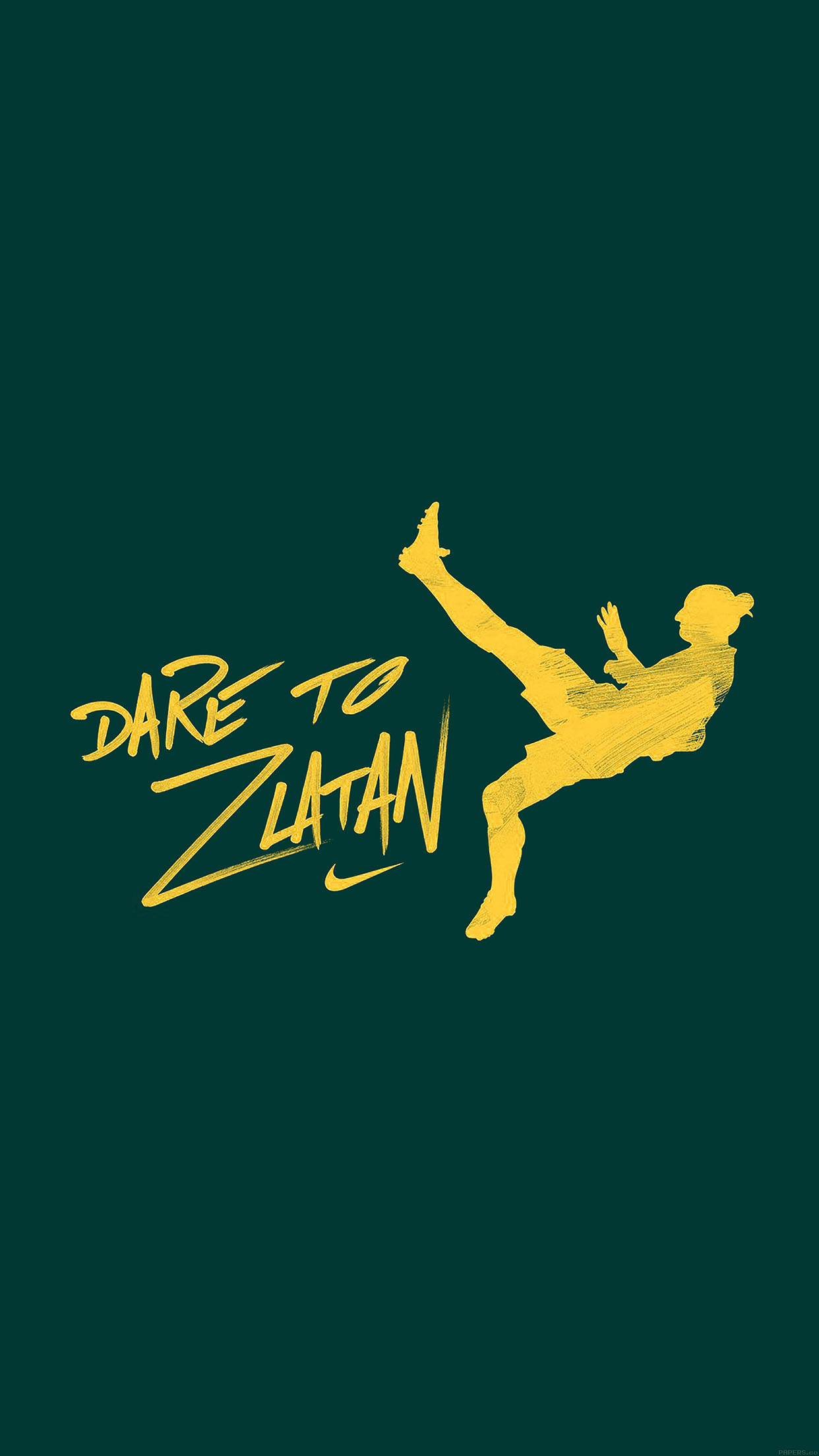 aa53-dare-to-zlatan-green-sports-art - Papers co