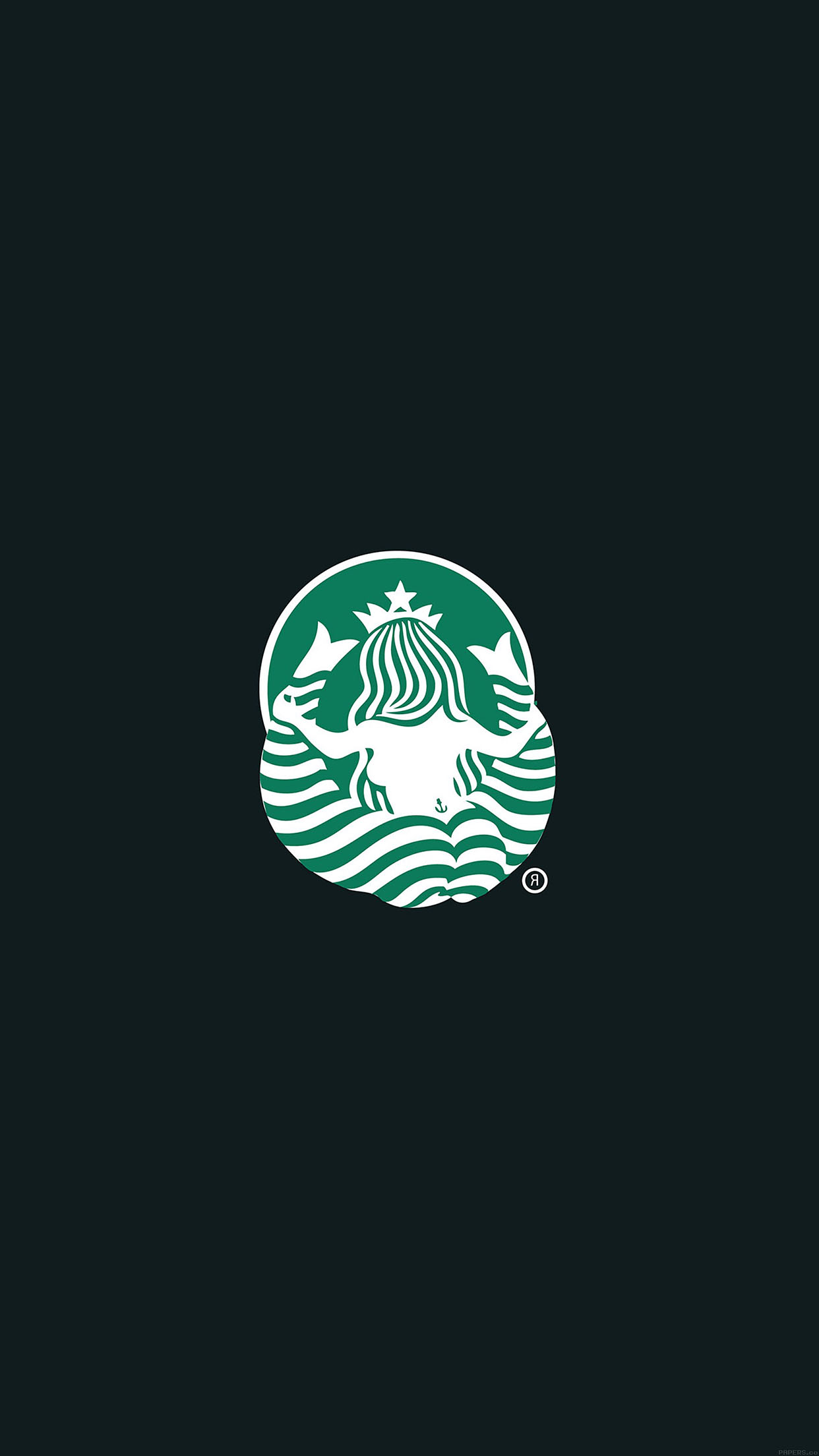 Iphonepapers Aa56 Back Of Starbucks Logo Art