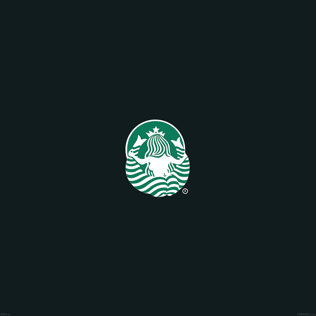 Papersco Android Wallpaper Aa56 Back Of Starbucks Logo Art