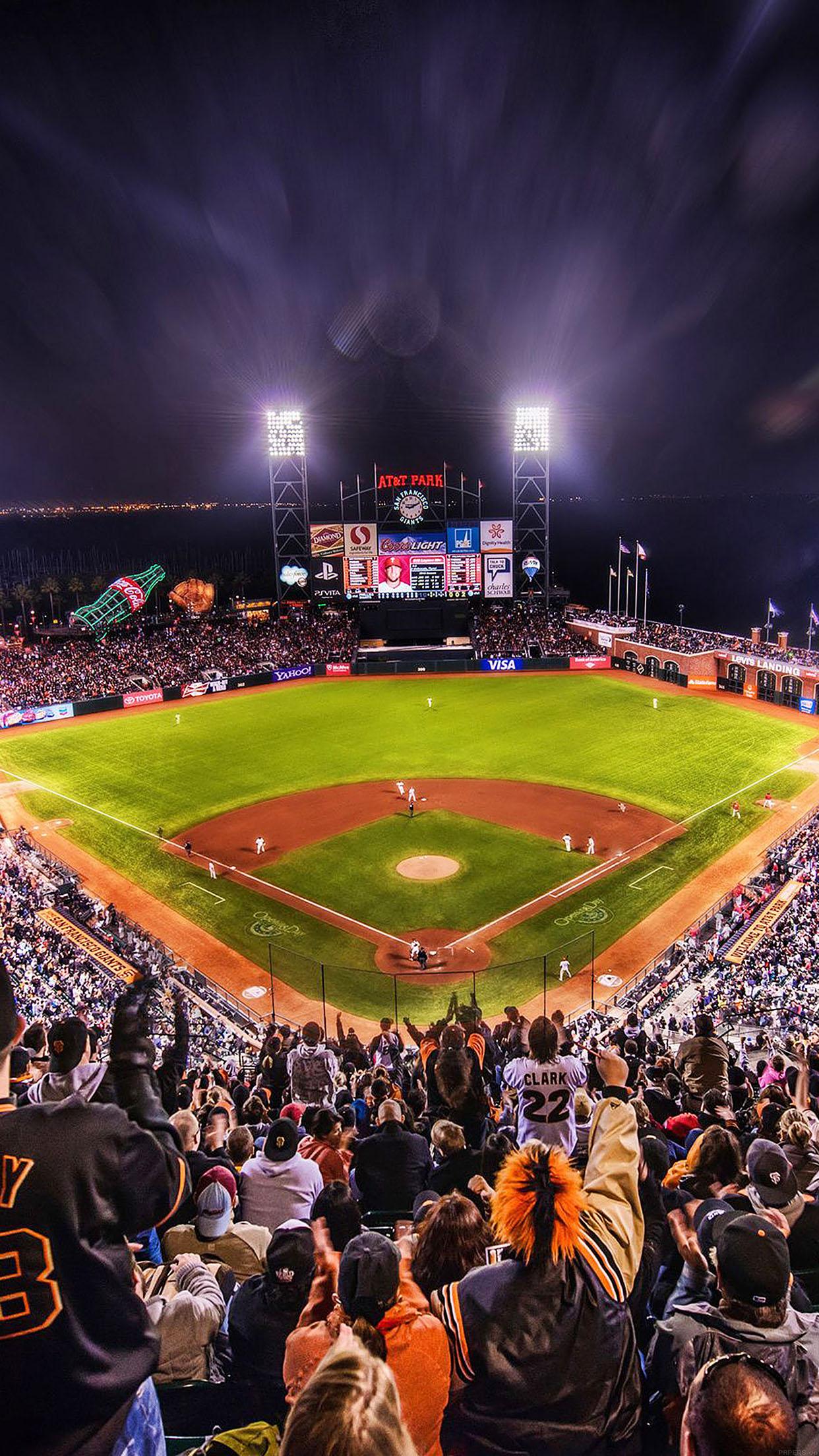 Iphone7papers Aa57 Baseball Stadium Sports Art
