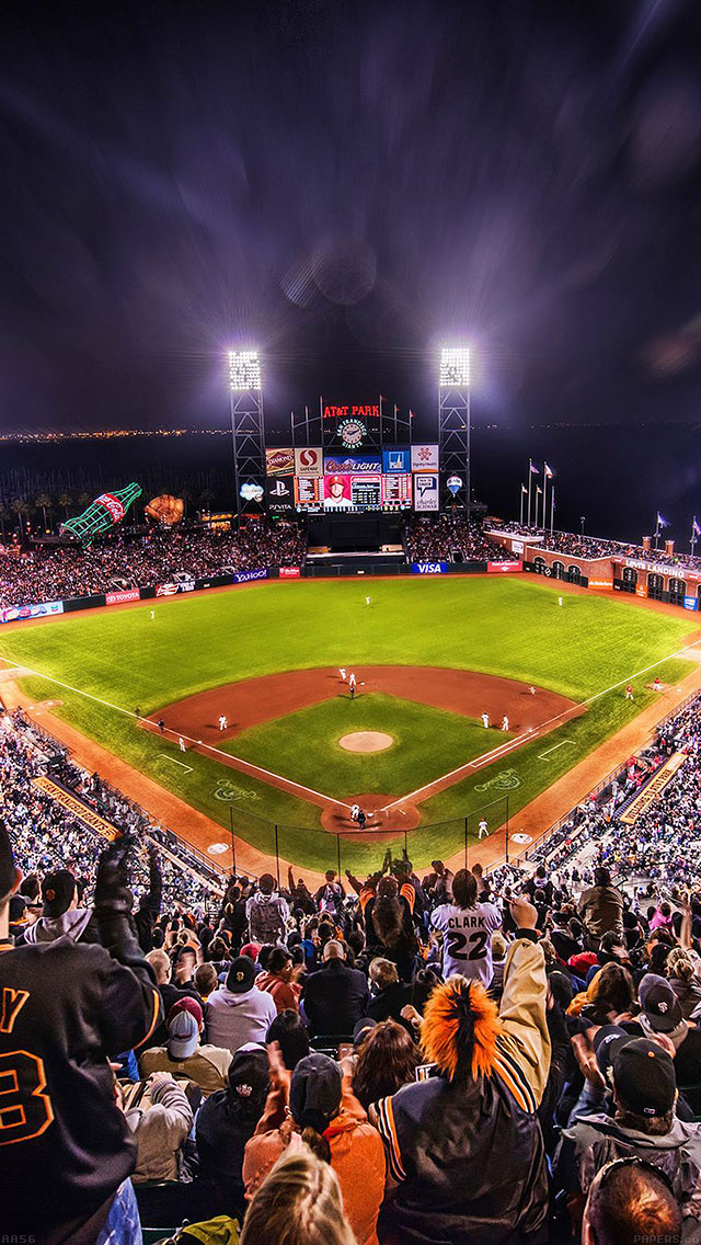 freeios8.com-iphone-4-5-6-ipad-ios8-aa57-baseball-stadium-sports-art