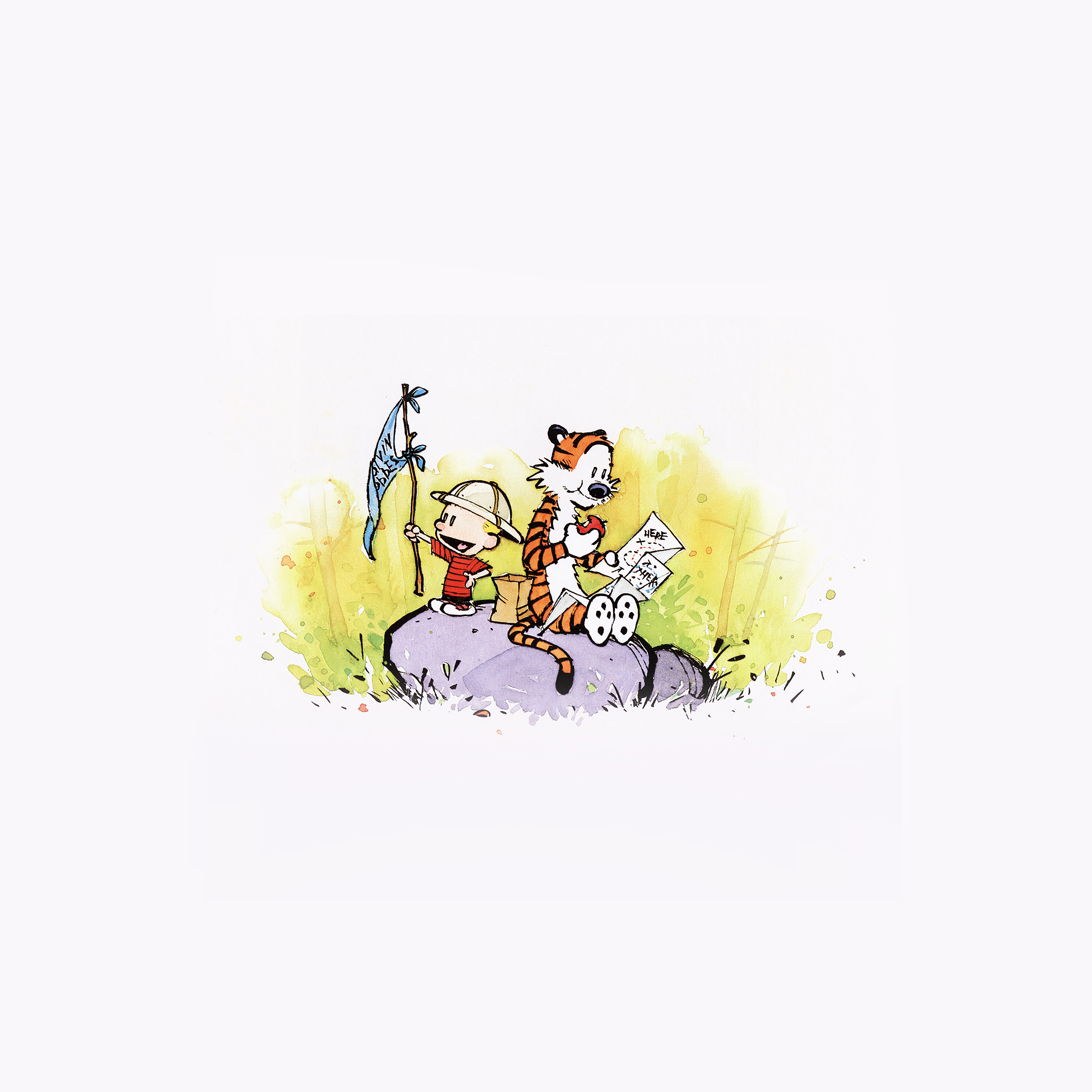 Aa59 Calvin And Hobbes Travel Illust Art Papers Co