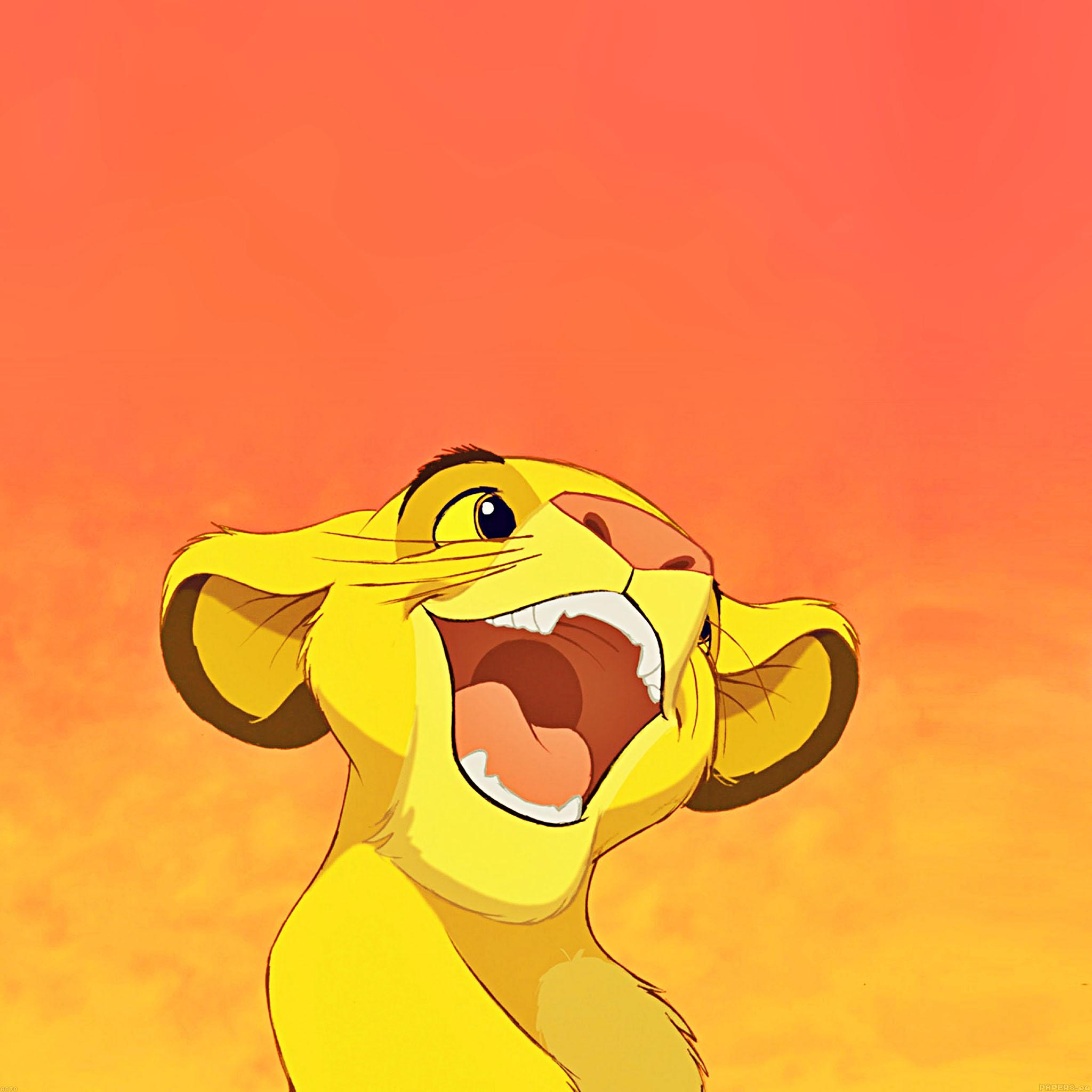 aa78-wallpaper-disney-simba-lionking-smile-illust - Papers.co