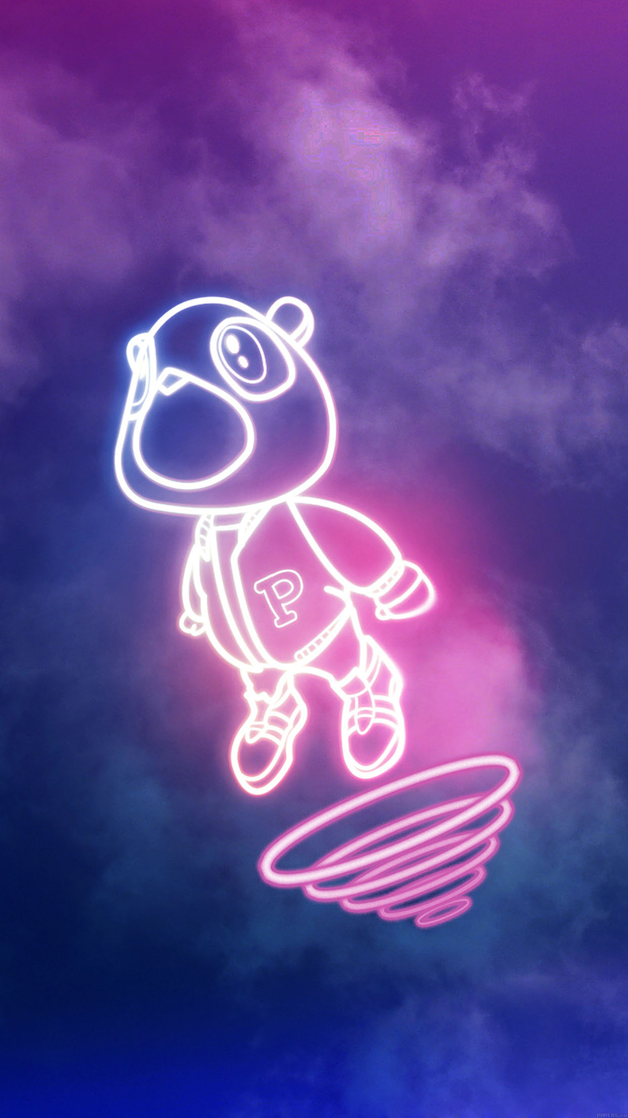 Iphonepapers Aa79 Wallpaper Drop Out Bear Of Kanye Illust