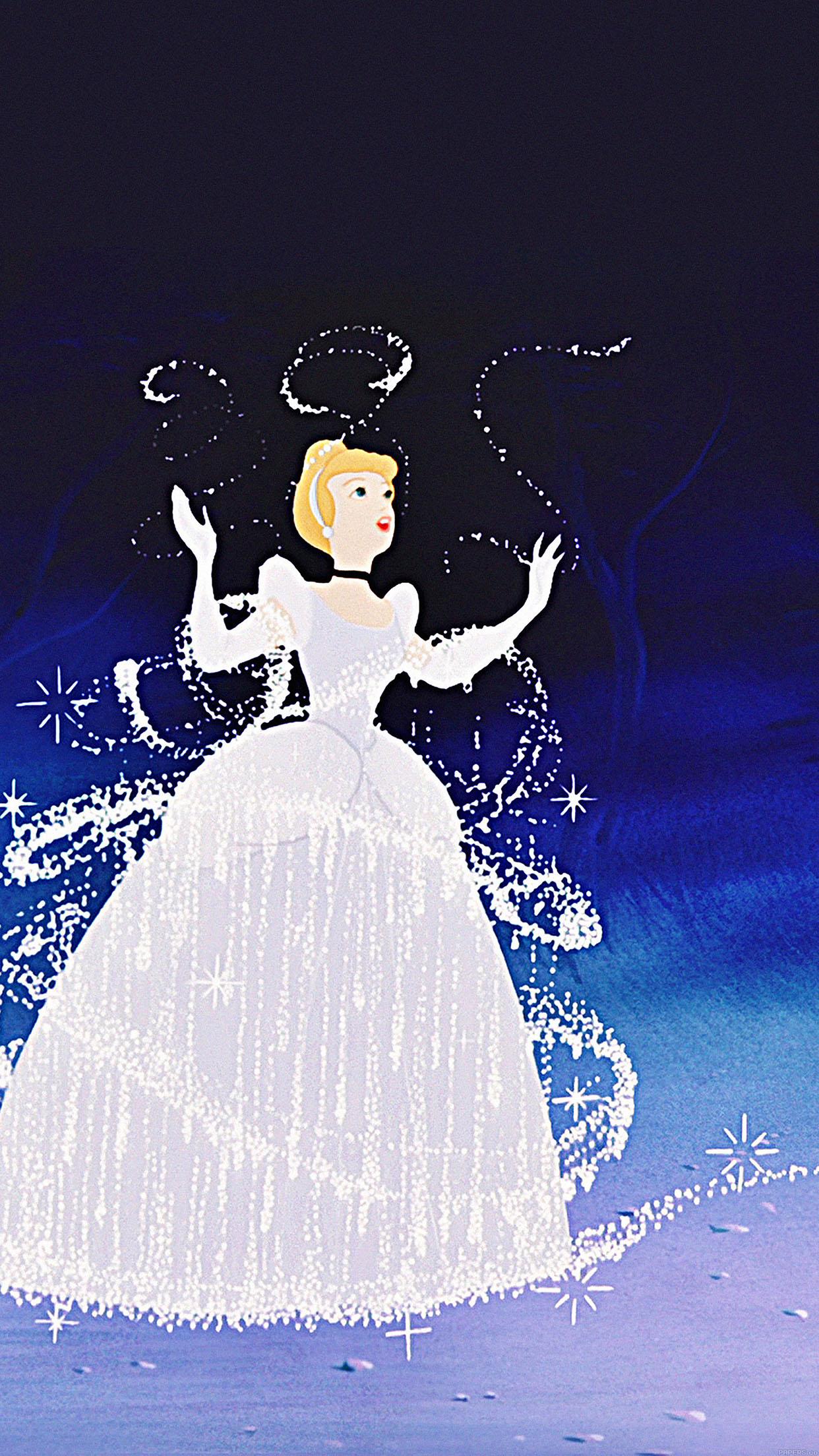 Iphone7papers Aa93 Wallpaper Cinderella Time Disney Illust