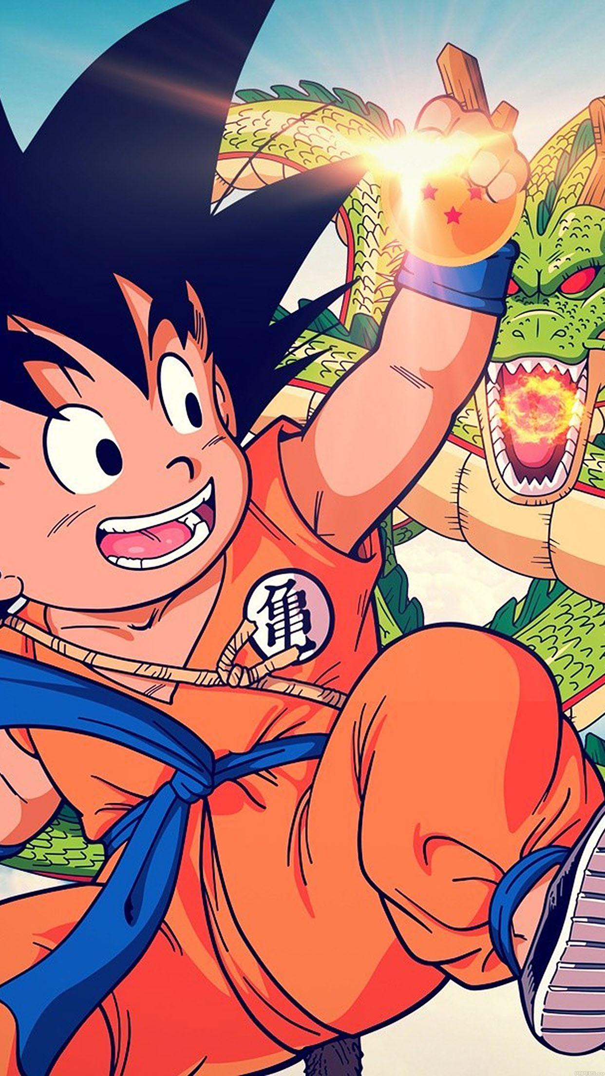 Iphone7papers Ab04 Wallpaper Goku Kid Dragonball Illust