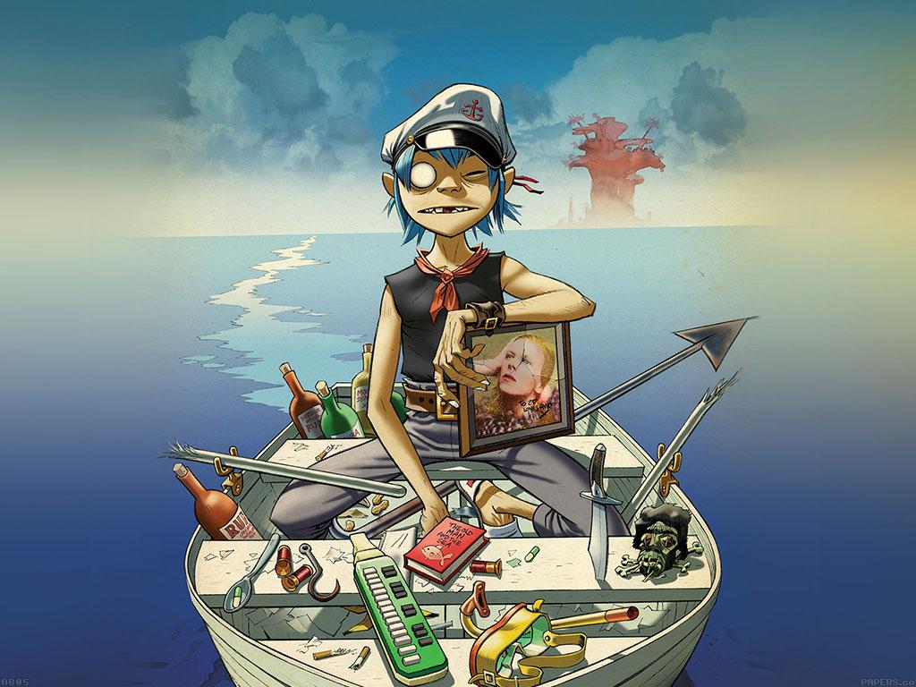 ab05-wallpaper-gorillaz-boat-illust-music - Papers.co