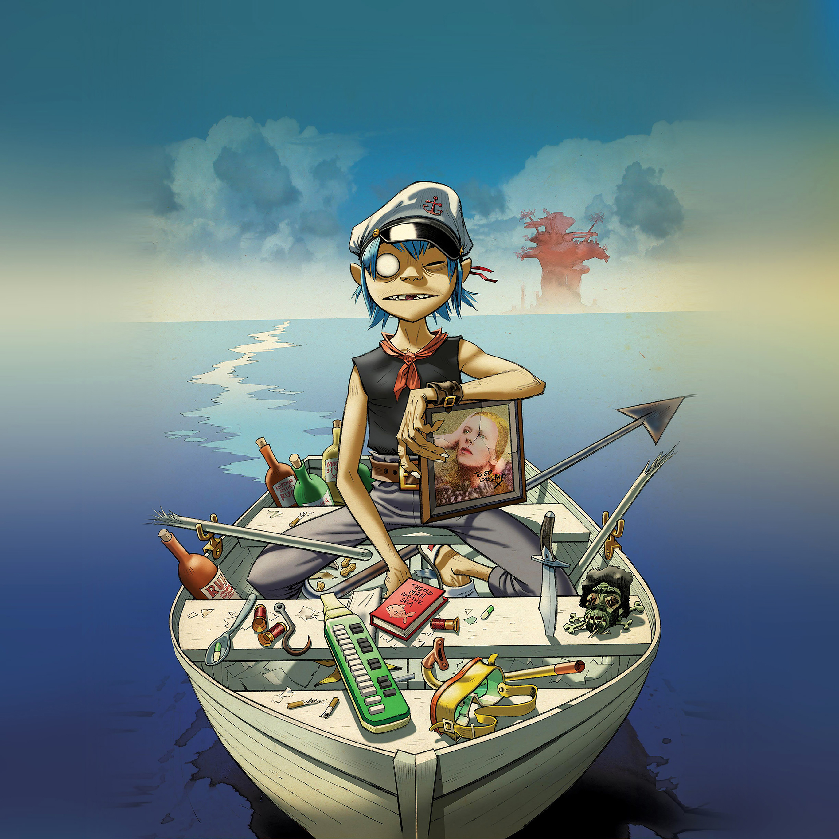 Ab05 Wallpaper Gorillaz Boat Illust Music Papers Co