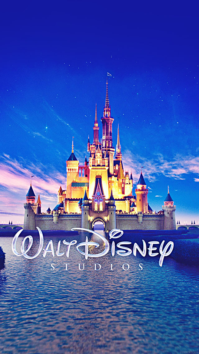 freeios8.com-iphone-4-5-6-ipad-ios8-ab16-wallpaper-walt-disney-studios-castle-illust