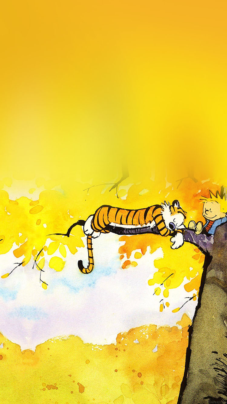Papers.co-iPhone5-iphone6-plus-wallpaper-ab20-wallpaper-calvin-and-hobbes-nap-illust