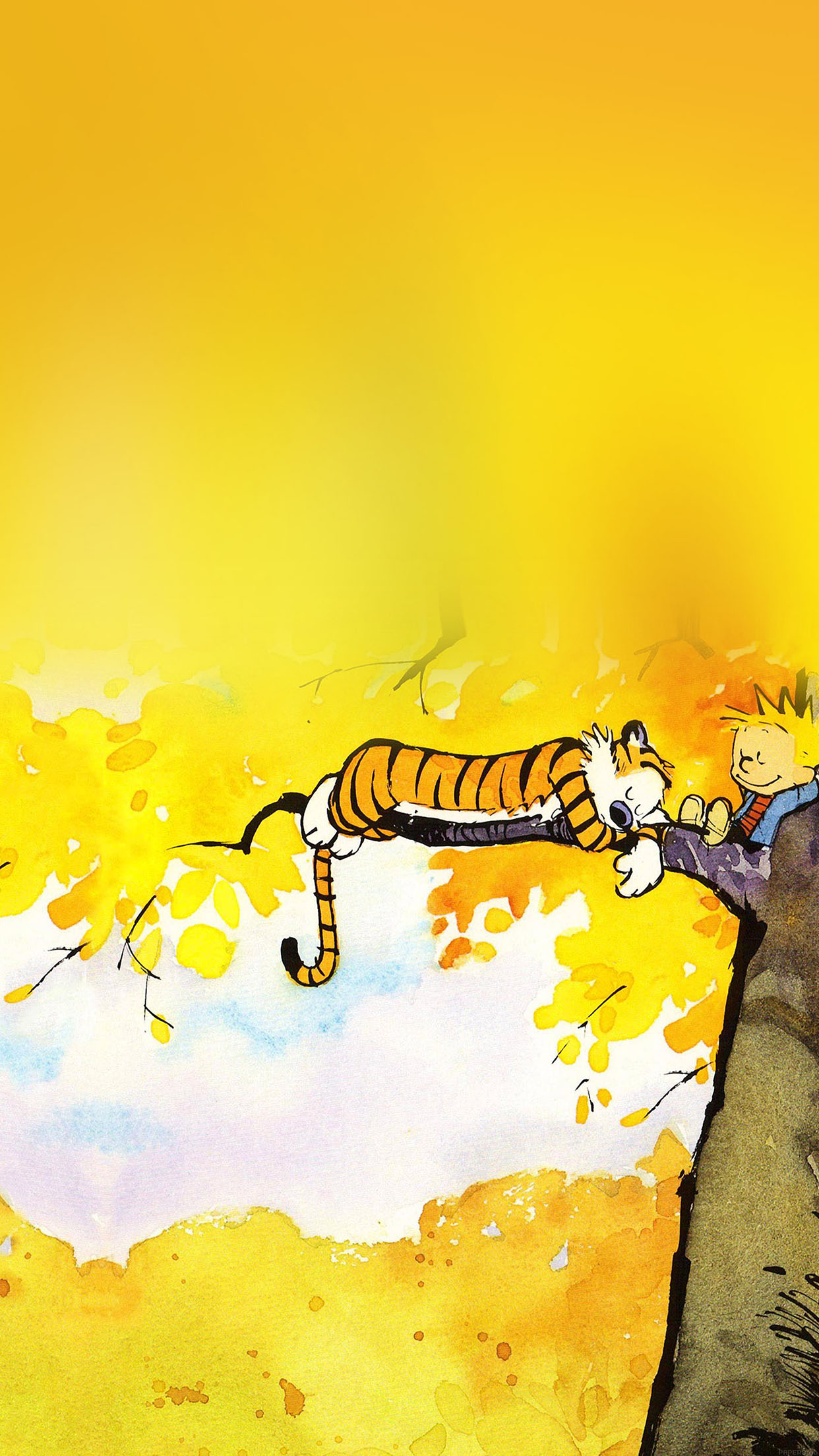 Iphone6papers Ab20 Wallpaper Calvin And Hobbes Nap Illust