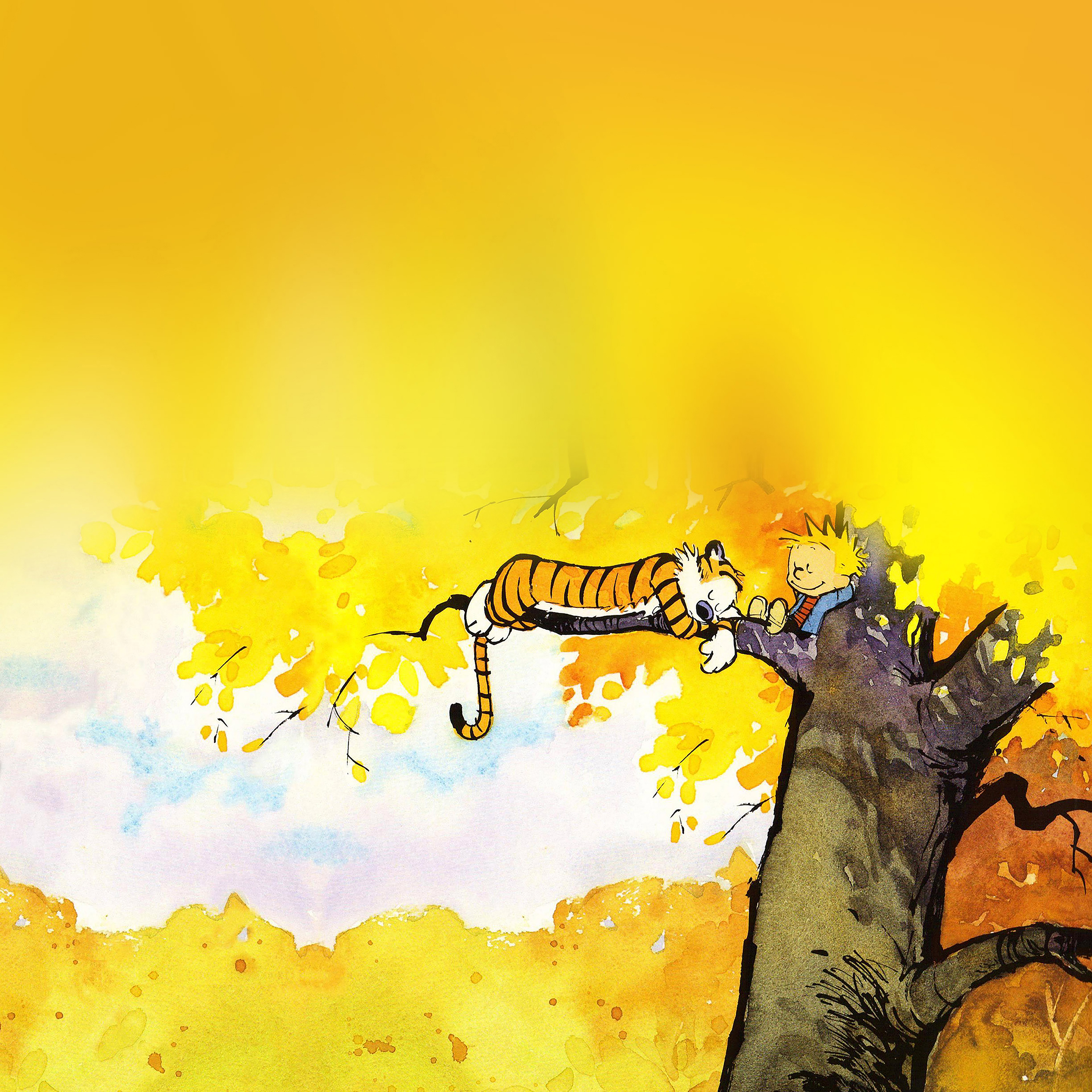Ab20 Wallpaper Calvin And Hobbes Nap Illust Papers Co