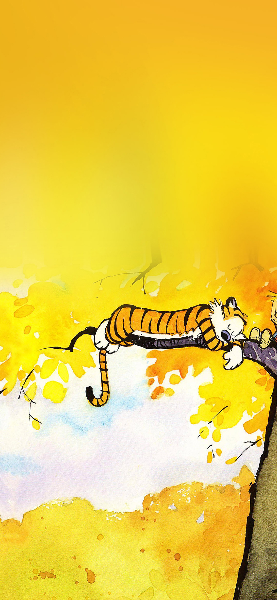 Iphonepapers Ab20 Wallpaper Calvin And Hobbes Nap Illust
