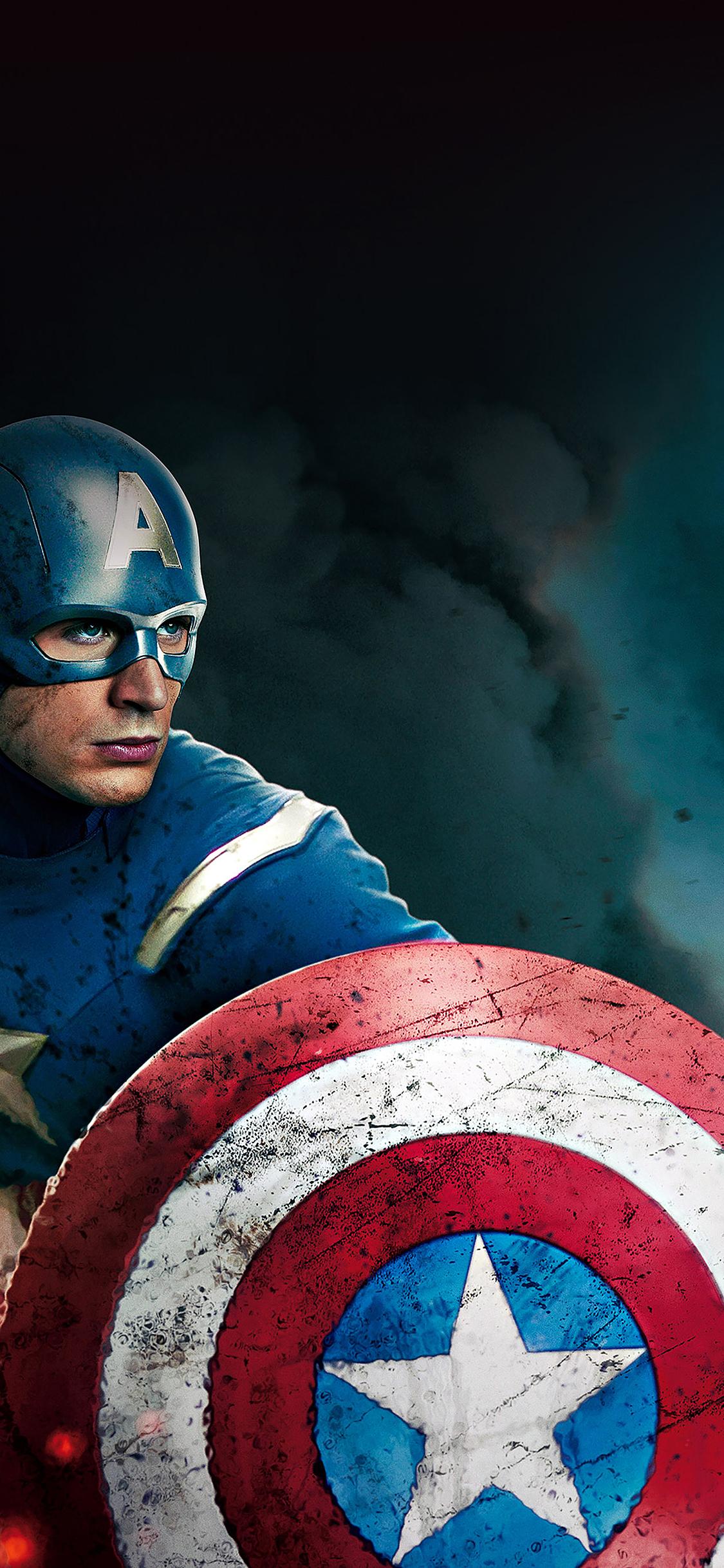 Iphonexpapers Ab21 Wallpaper Captain America Avengers Illust Film