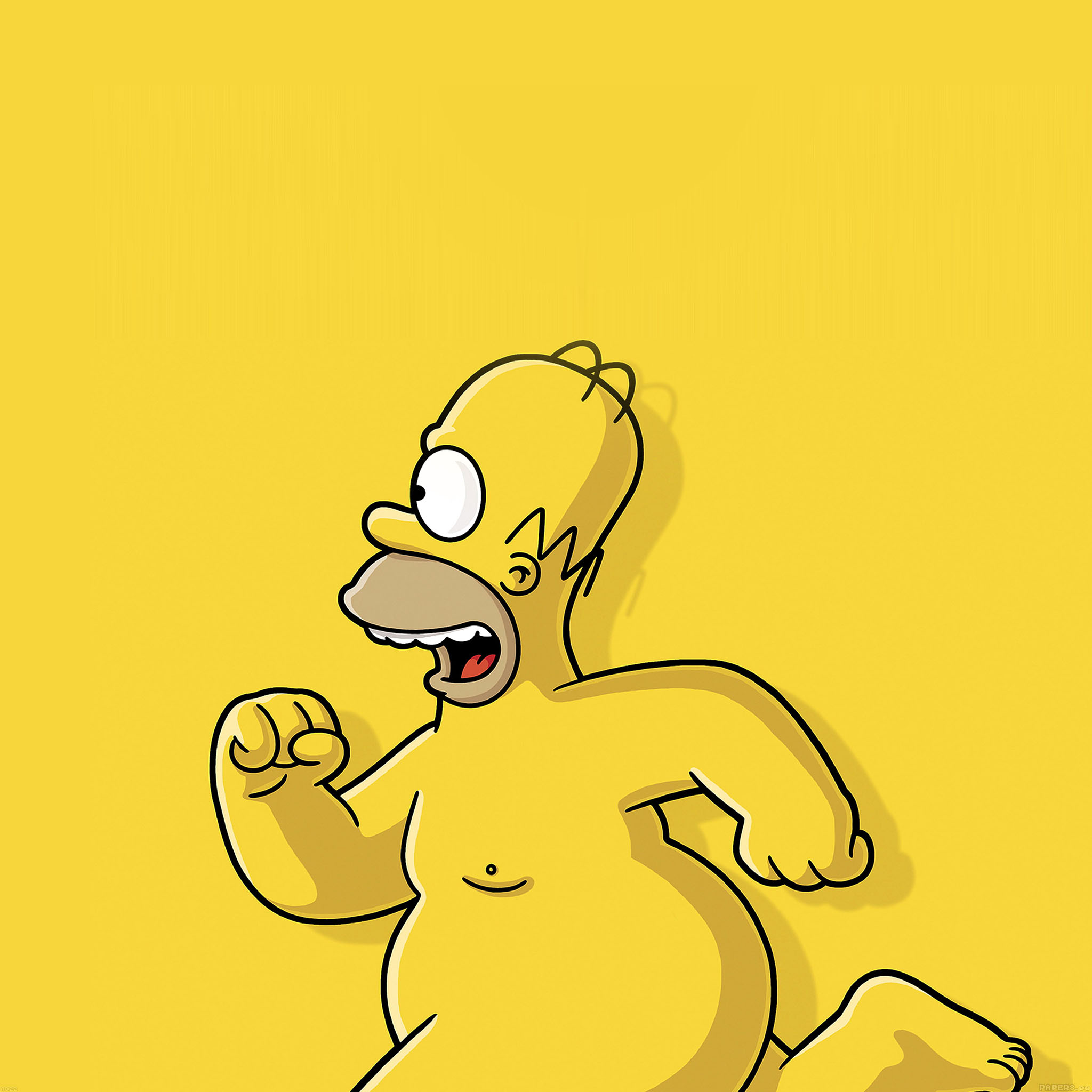 Ab22 Wallpaper Catch Homer If You Can Homer Simpsons Illust
