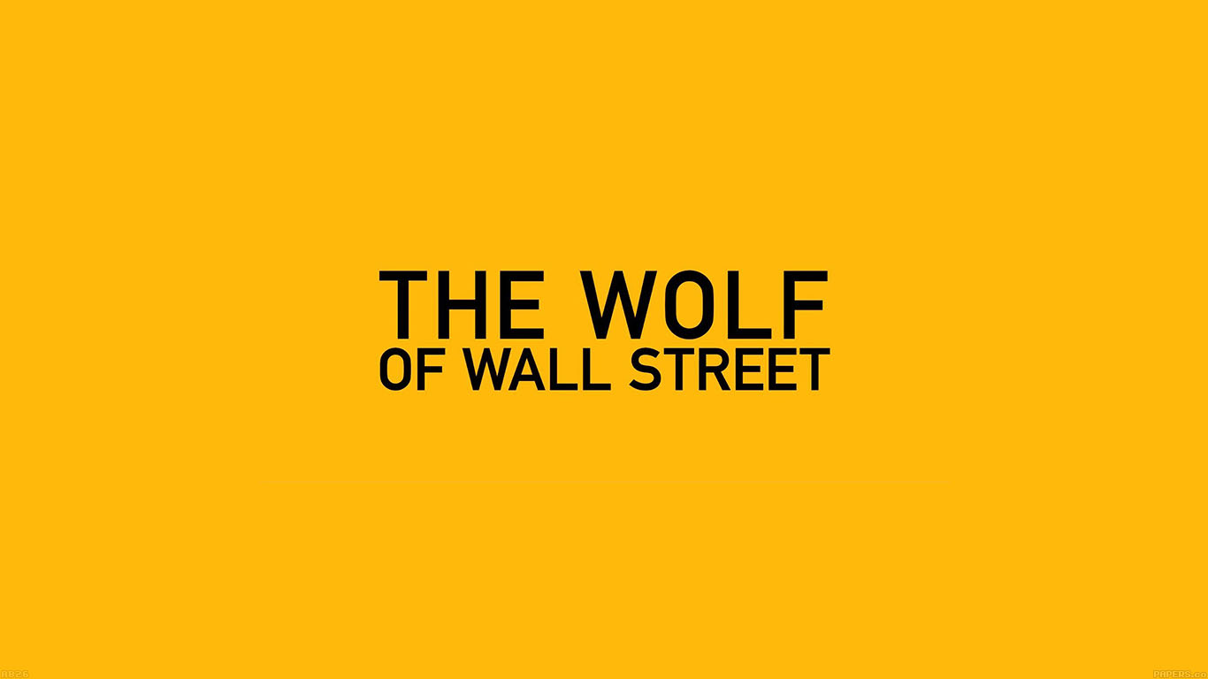 Ab26 Wallpaper The Wolf Of Wallstreet Yellow Film Logo