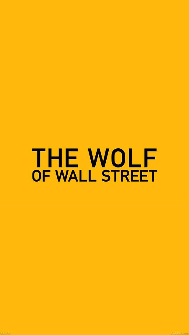 freeios8.com-iphone-4-5-6-ipad-ios8-ab26-wallpaper-the-wolf-of-wallstreet-yellow-film-logo