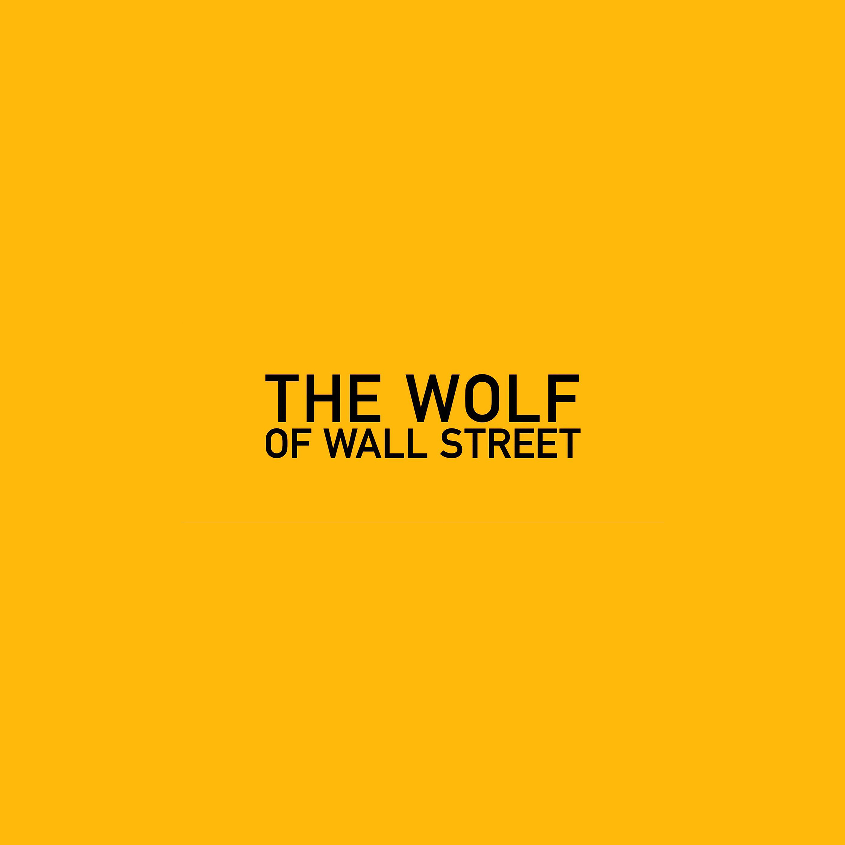 Ab26 Wallpaper The Wolf Of Wallstreet Yellow Film Logo Papers Co