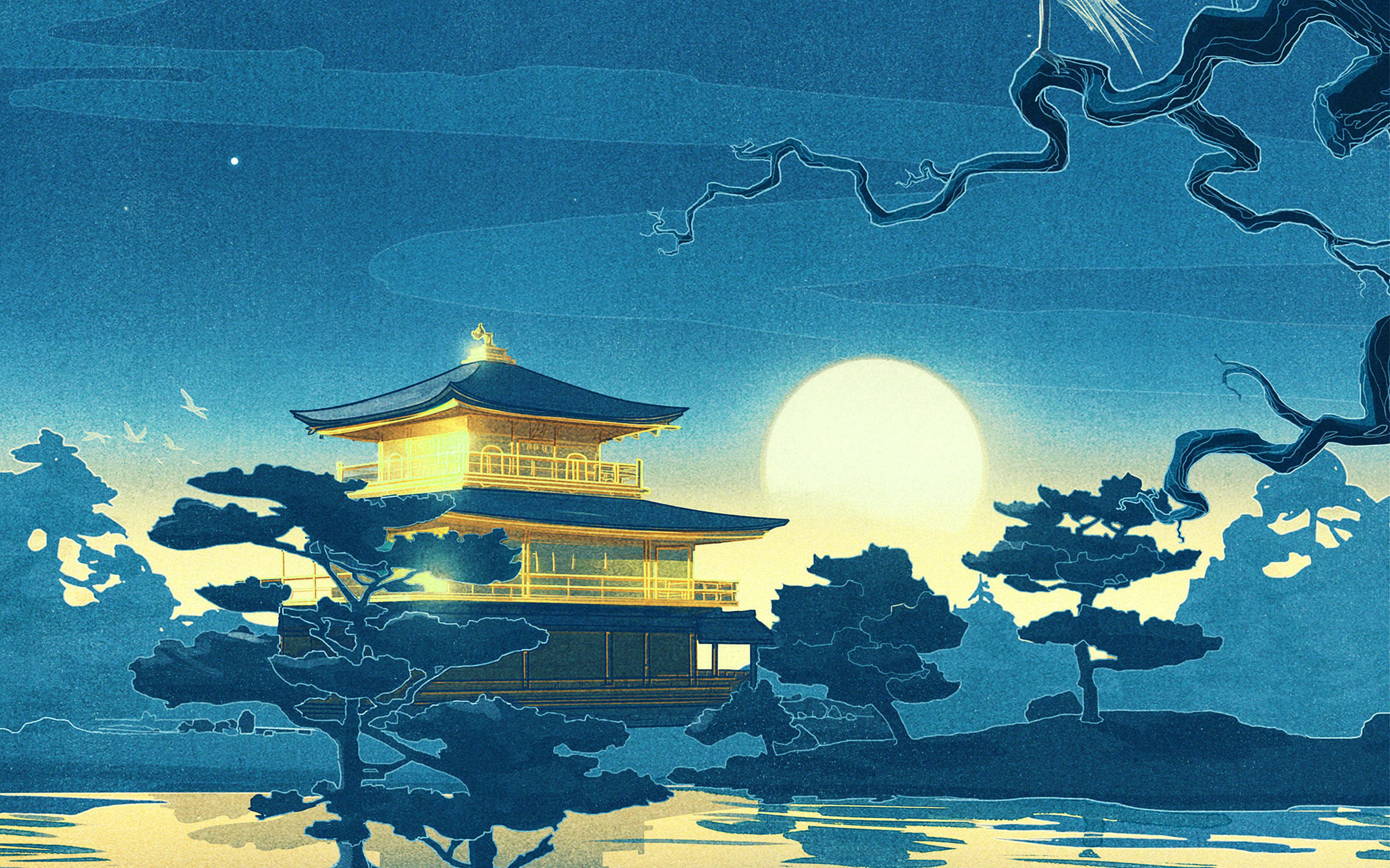 ab43-wallpaper-slumber-blue-art-illust - Papers.co