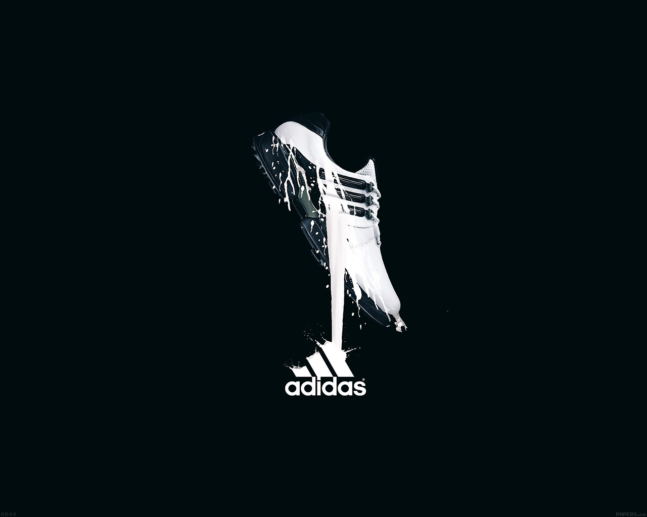 Wallpaper For Desktop Laptop Ab48 Wallpaper Adidas Black