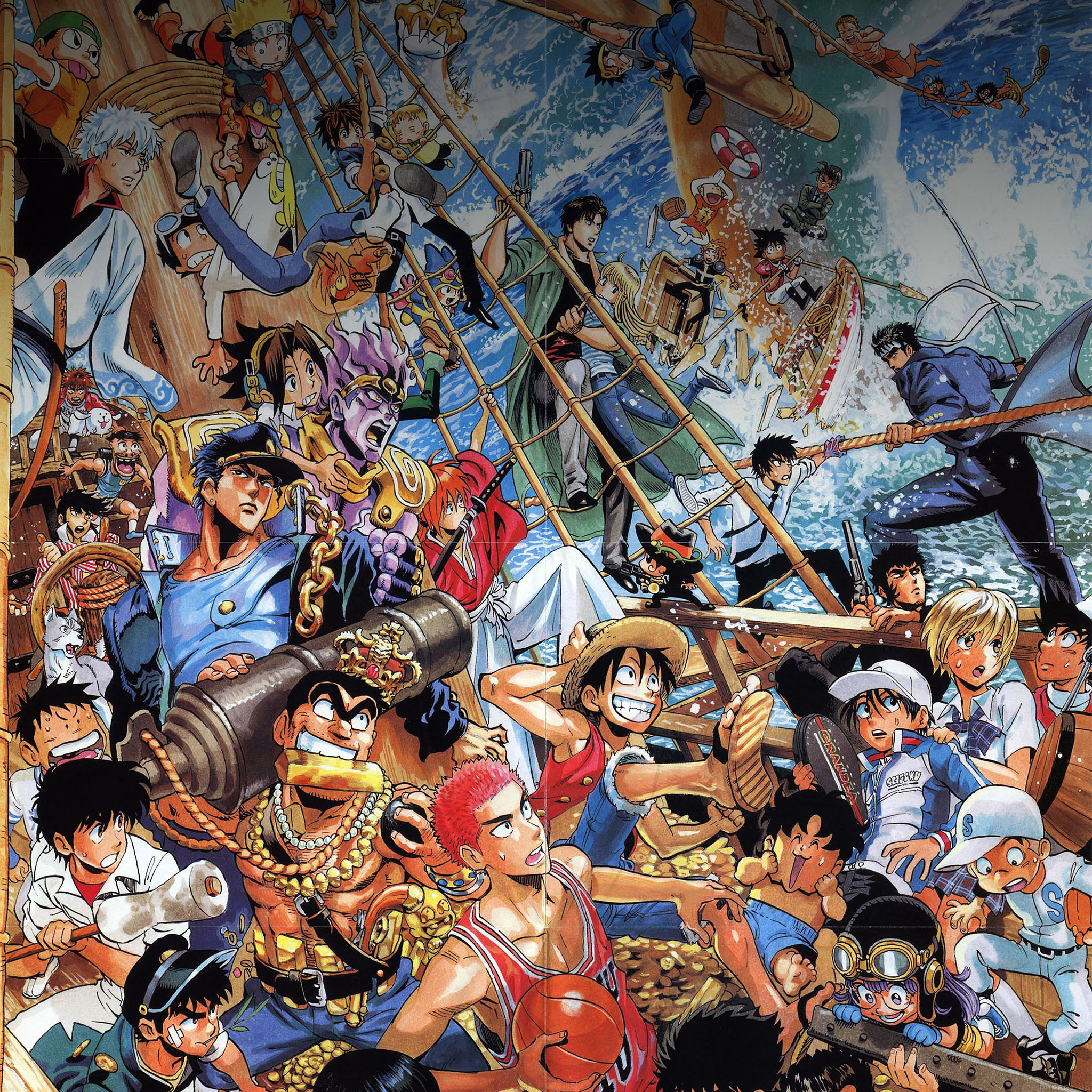 One Piece All Parallax Hd Iphone Ipad Wallpaper: Ab50-wallpaper-all-the-fun-comics-illust