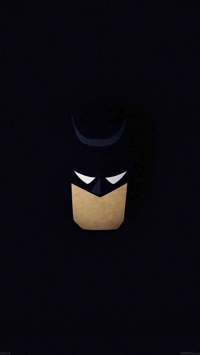 freeios8.com-iphone-4-5-6-ipad-ios8-ab54-wallpaper-batman-face-dark-minimal